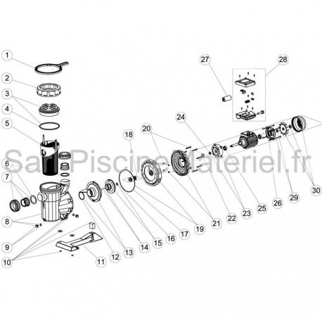 image: Turbine + joint de pompe Victoria + 1.5cv mono