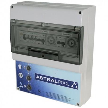 image: Coffret électrique pour filtration, 1 projecteur et 1 balai