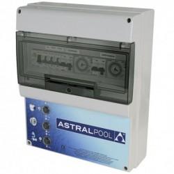 Coffret électrique pour filtration, 2 projecteurs et 1 balai