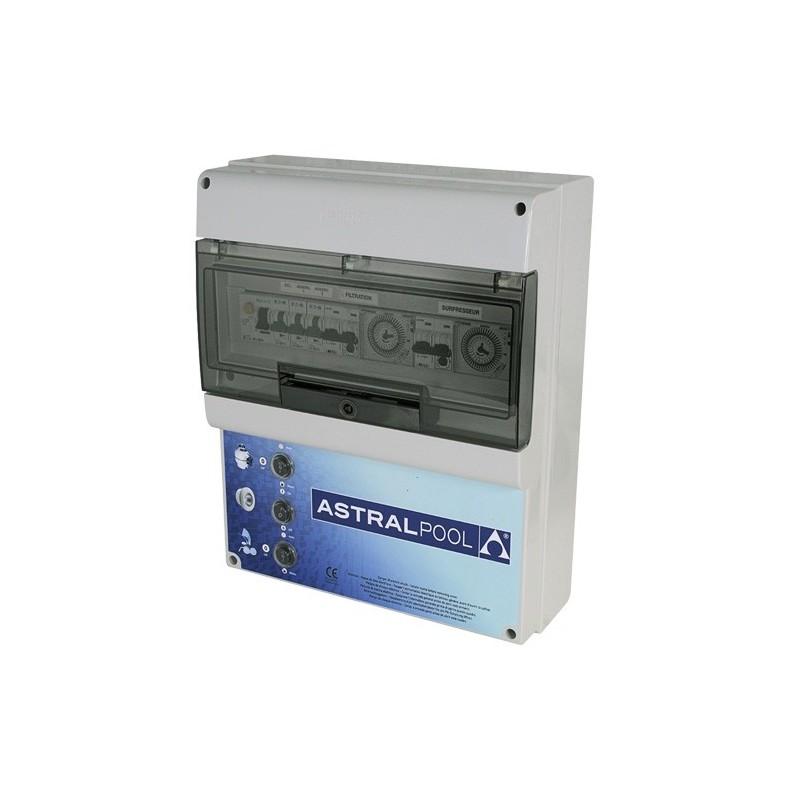image coffret lectrique pour filtration 2 projecteurs et 1 balai - Coffret Electrique Piscine Pas Cher