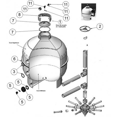 image: Manomètre seul pour filtre Cantabric