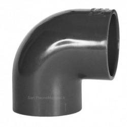 Coude PVC pression Piscine 90° D 32