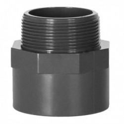 Embout Fileté PVC Pression Piscine 63 / 50 x 1''1/2