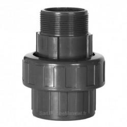 Raccord Union PVC Pression Piscine 50 x 1''1/2