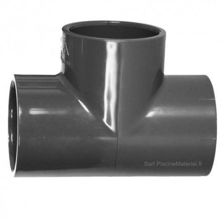 image: Té PVC Pression 90° 75 mm