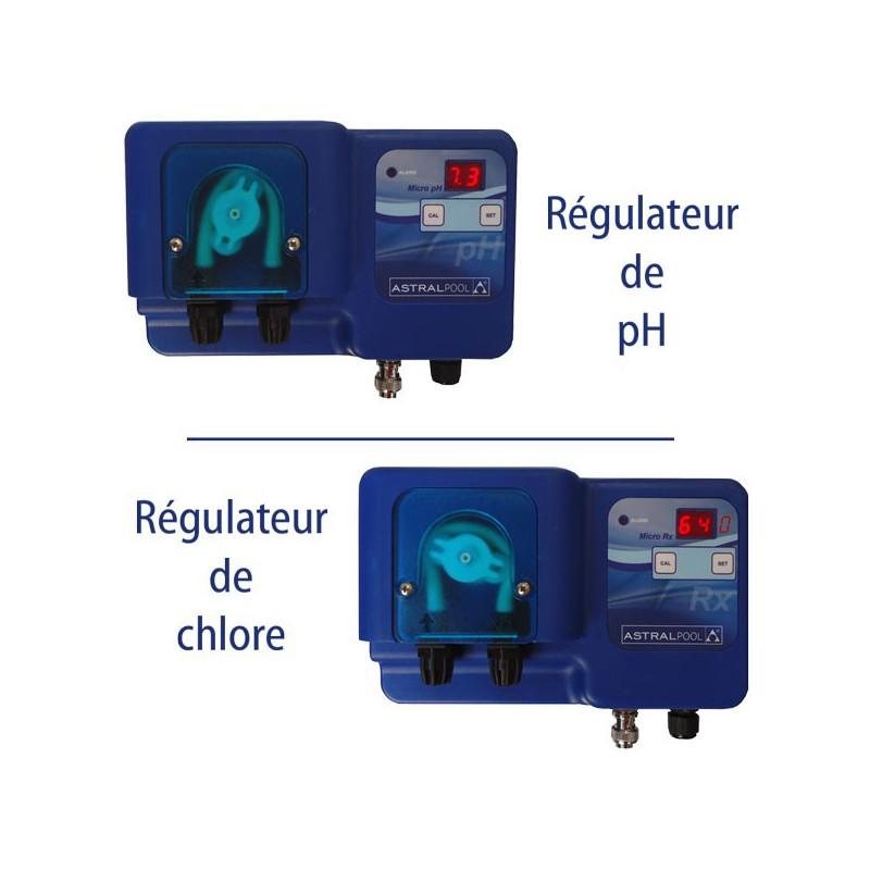 Pack regulateurs astral micro ph et micro redox for Regulateur ph et chlore piscine