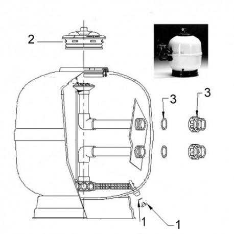 image: Kit Manomètre Complet pour filtre ASTER et UVE