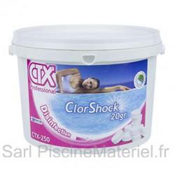Chlore Choc CTX250 - Pastilles 20Gr - 5kg