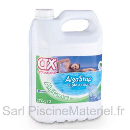 image: Anti Algues Piscine Alga Stop Triple Action CTX570 - Bidon 5L