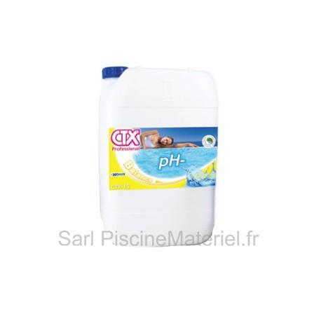 image: pH Moins Liquide Piscine CTX15 - Bidon de 20L